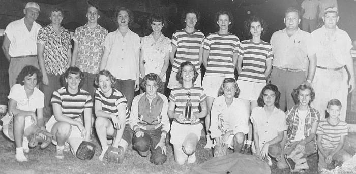 Rison Rockettes, 1950 City Softball Champs!