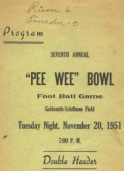 1951 PeeWee Bowl Program