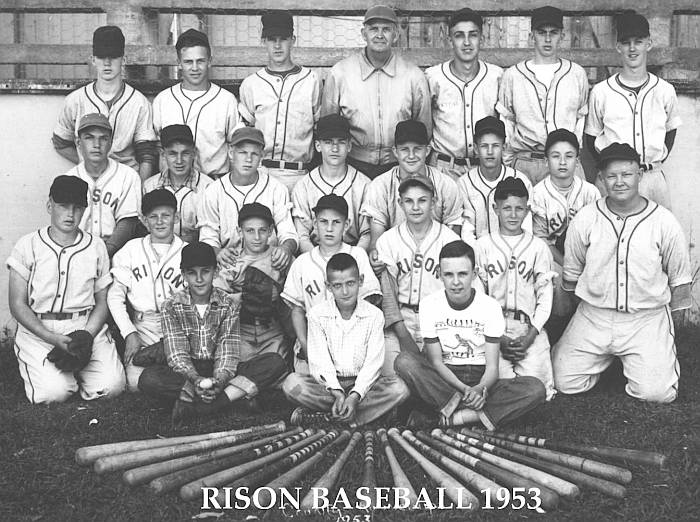 1953 Rison Baseball Team